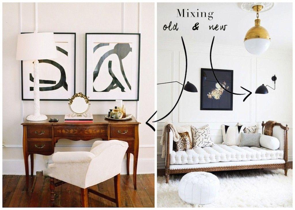 Mixing Antique Contemporary Decor Pieces Interiors In