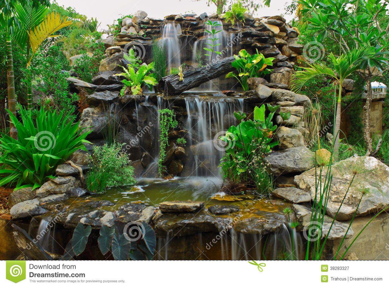 M s de 25 ideas incre bles sobre fuentes jardin en - Como decorar un estanque ...