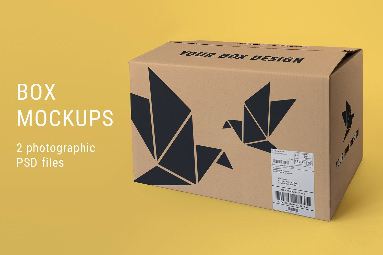 Download Large Box Mockup by Jose Matias on @creativemarket | Box ...