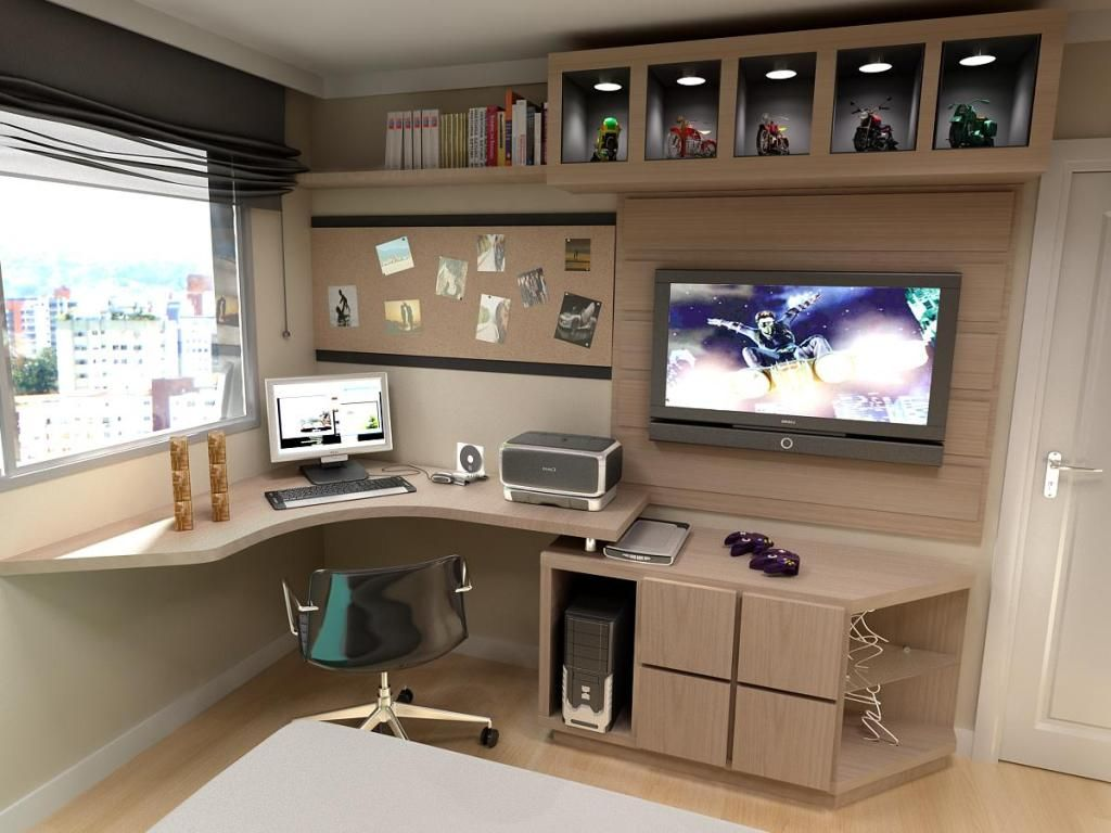 30+ Modern Computer Desk and Bookcase Designs Ideas For Your ...