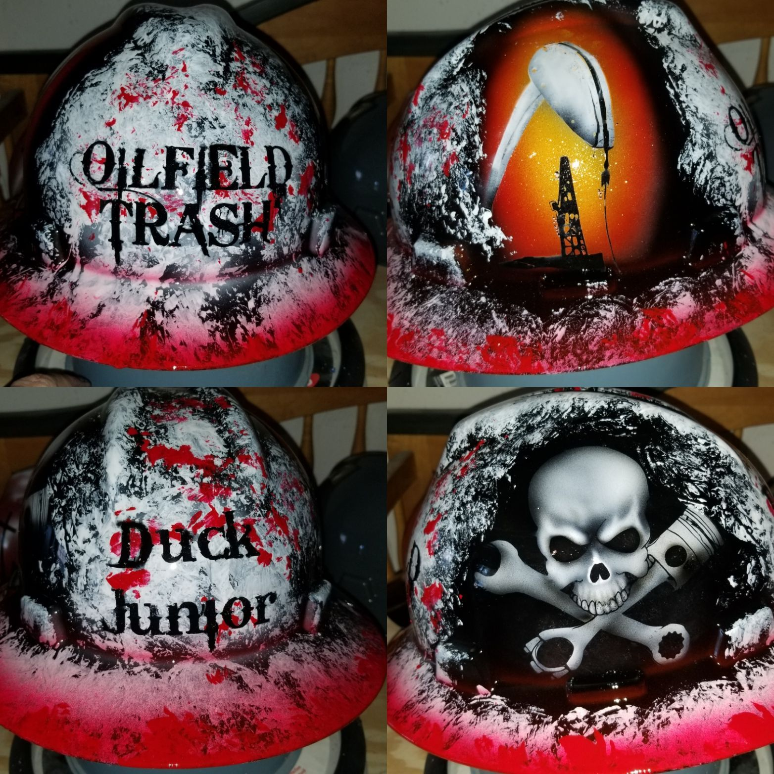 Oilfield Trash design  Your choice of color and name  $95