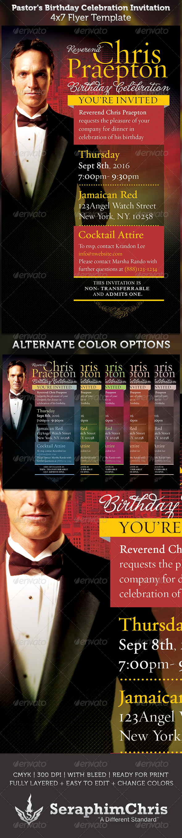 pastor s birthday celebration invitation template flyer template buy pastor s birthday celebration invitation template by seraphimchris on graphicriver this pastor s birthday celebration invite or flyer template is