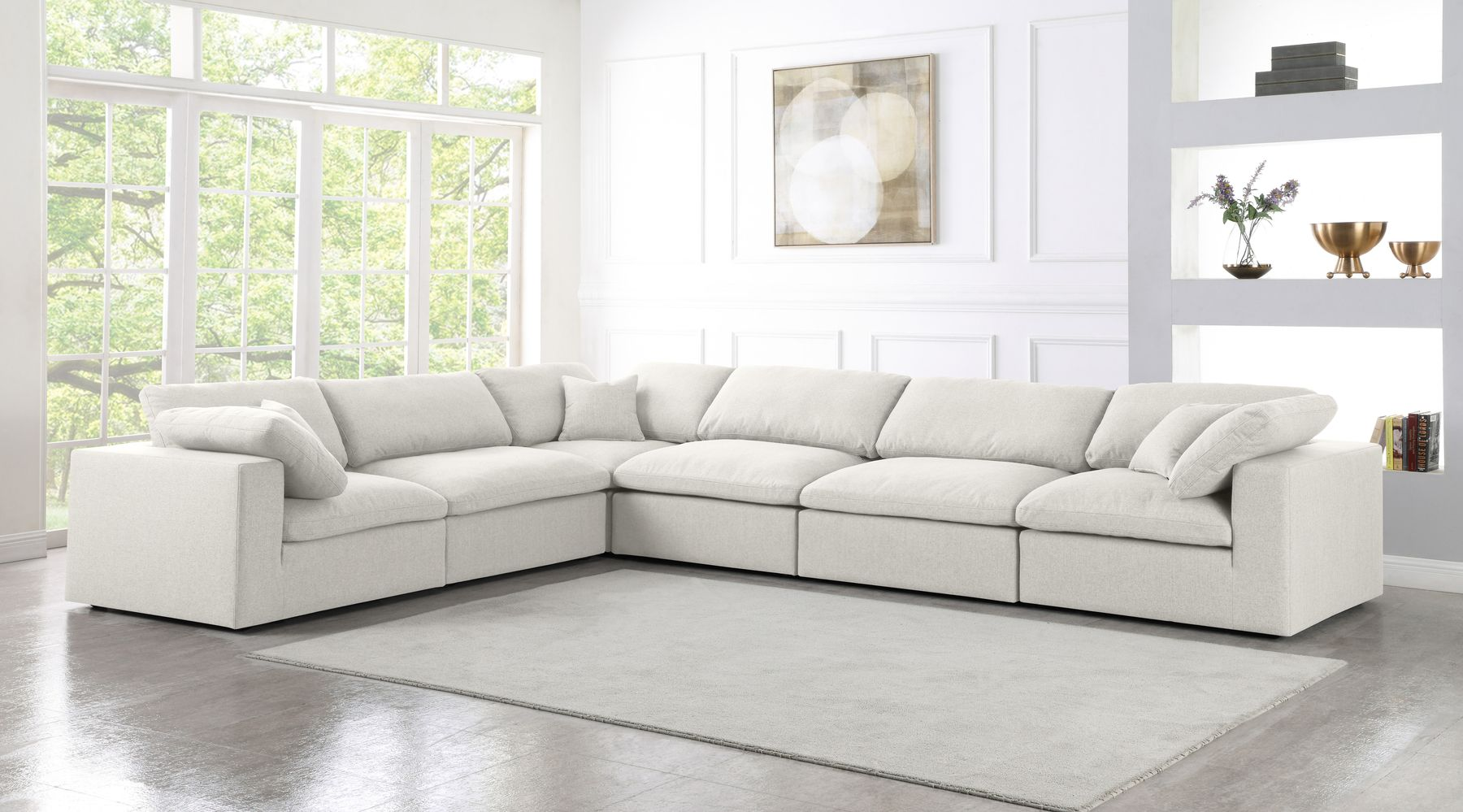 Serene 6a Cream Sectional Sofa In 2020 Sectional Sofa Grey