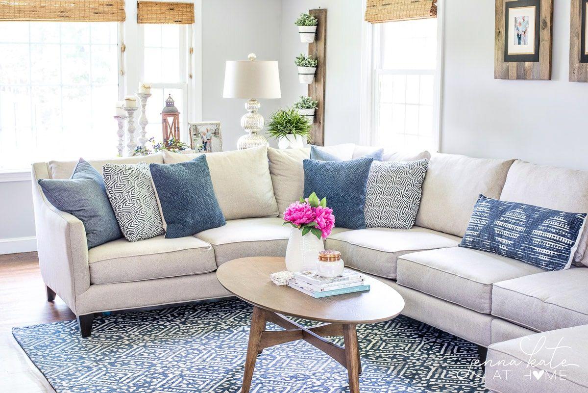 Coastal Inspired Summer Living Room Living Room Color Sch