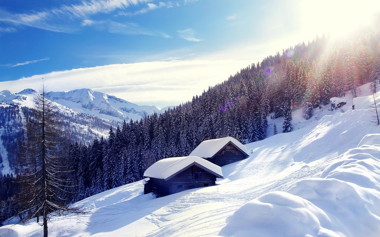 Wallpapers Austria Winter Mountains Scenery Alps Snow Trees Nature Image 439239 Download Mountain Landscape Photography Alps Winter Nature