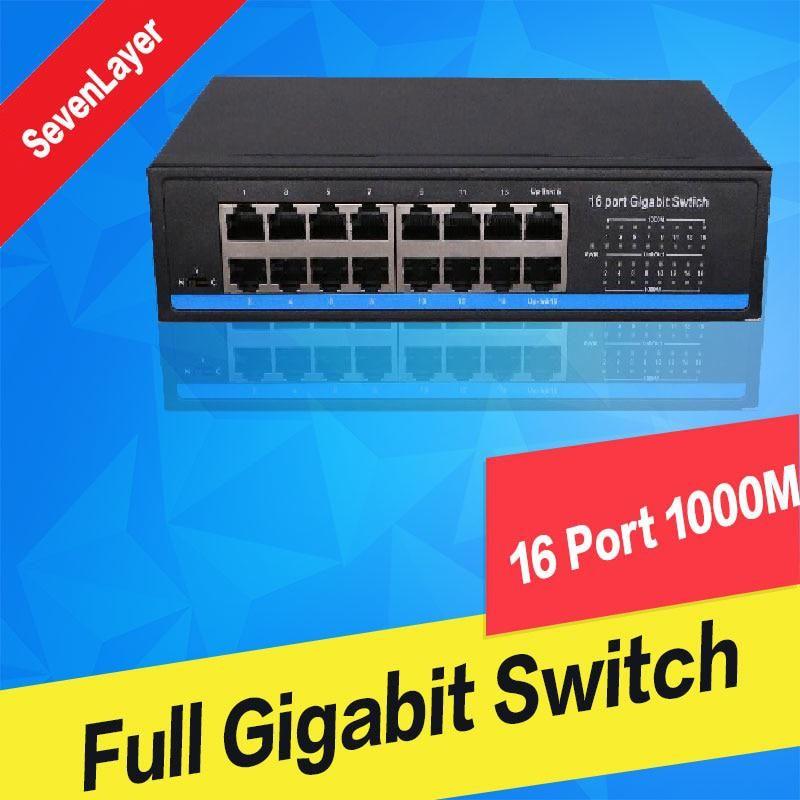 10 100 1000m 16 Ports Gigabit Switch Full Duplex Gigabit Ethernet Switches Us 60 58 Gigabit Switch Switches Duplex