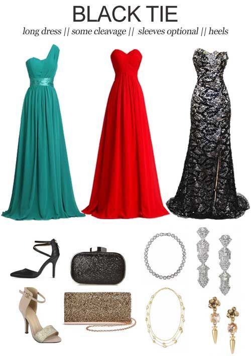 Image result for black tie dress code for women  2d0e170cb