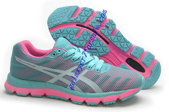 more photos 4efbc bc4d6 Asics Gel Hyper 33 Gentlemen Womens Aqua Blue Pearl Pink half off Asics  Shoes ...