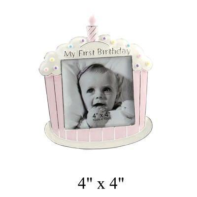First Birthday Pink Cupcake Photo Frame | Birthday Photo Frames ...