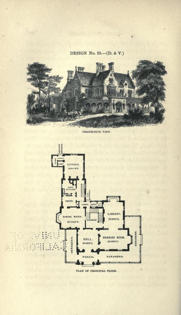 1870 S Plan From Calvert Vaux Vintage House Plans Simple Floor