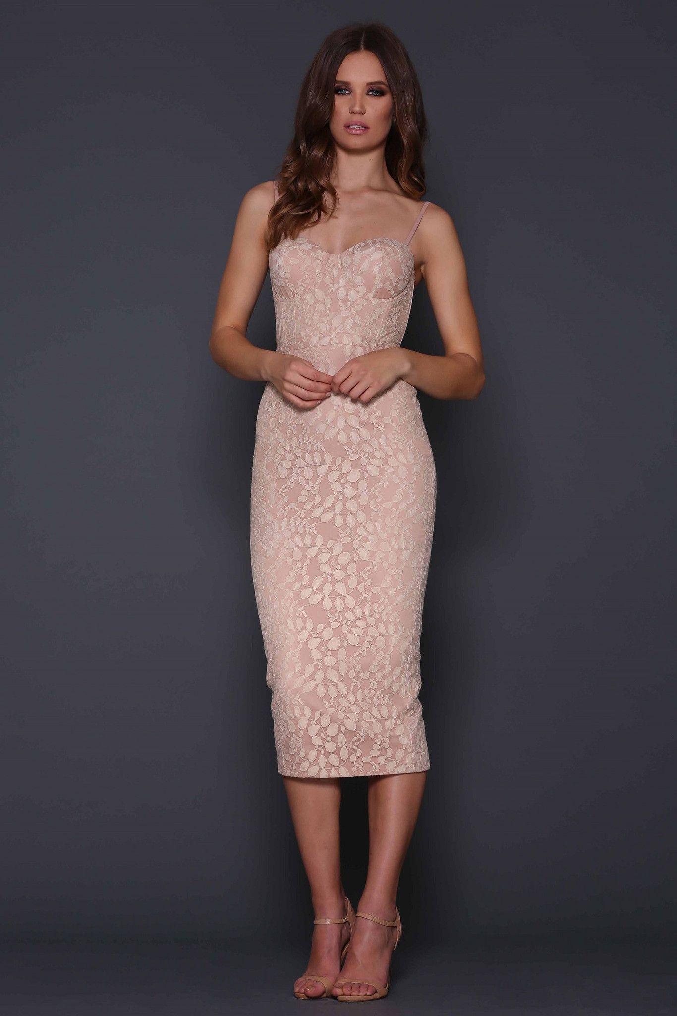 Elle Zeitoune - Leoni Dress - Nude | Elle Zeitoune | Pinterest