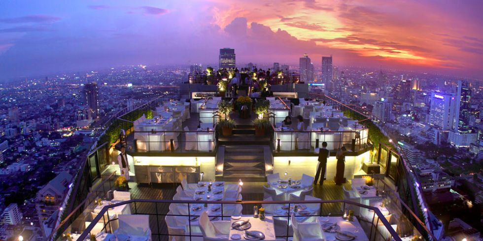 The 10 Bars With The Best Views In The World Hotels And Resorts Rooftop Bar Bangkok Banyan Tree