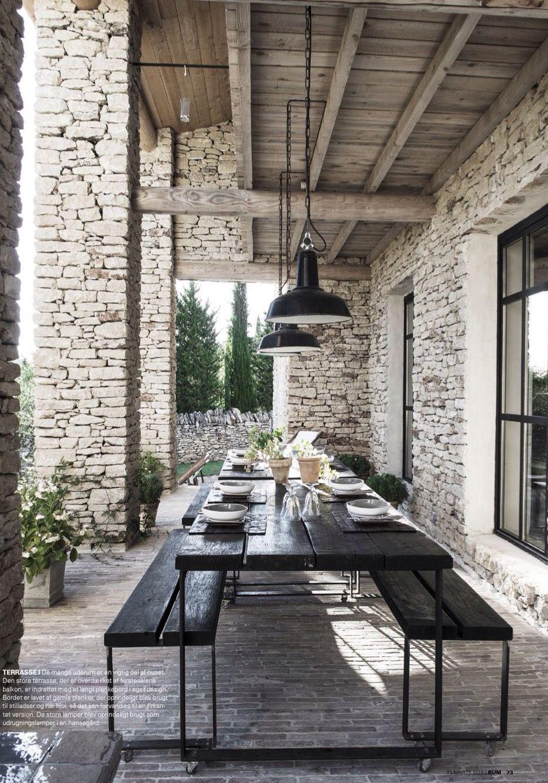 Véranda De Jardin Extérieur coin repas extérieur / patio   mobilier terrasse
