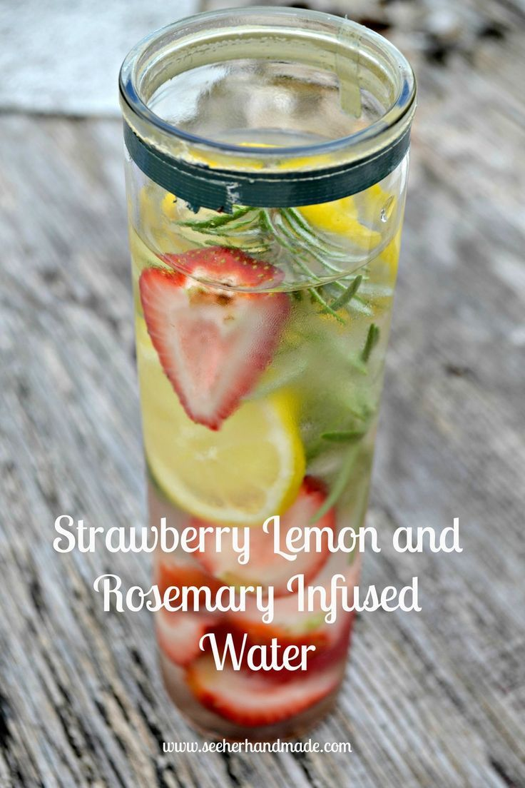 Strawberry Lemon and Rosemary Infused Water   - Health & Fitness - #Fitness #Health #infused #Lemon...