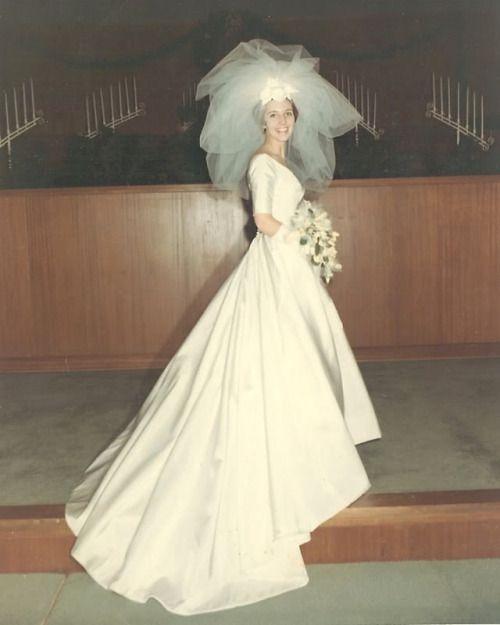 Vintage 1960s Wedding Dresses: 1967 Bride Found Photo Vintage Fashion