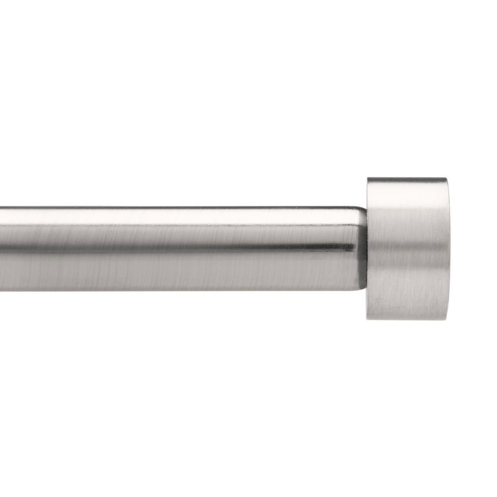 Umbra Cappa 3 4 In Dia Rod 36 In 72 In In Nickel Steel Whitecurtains Curtain Rods Drapery Rods Modern Curtain Rods