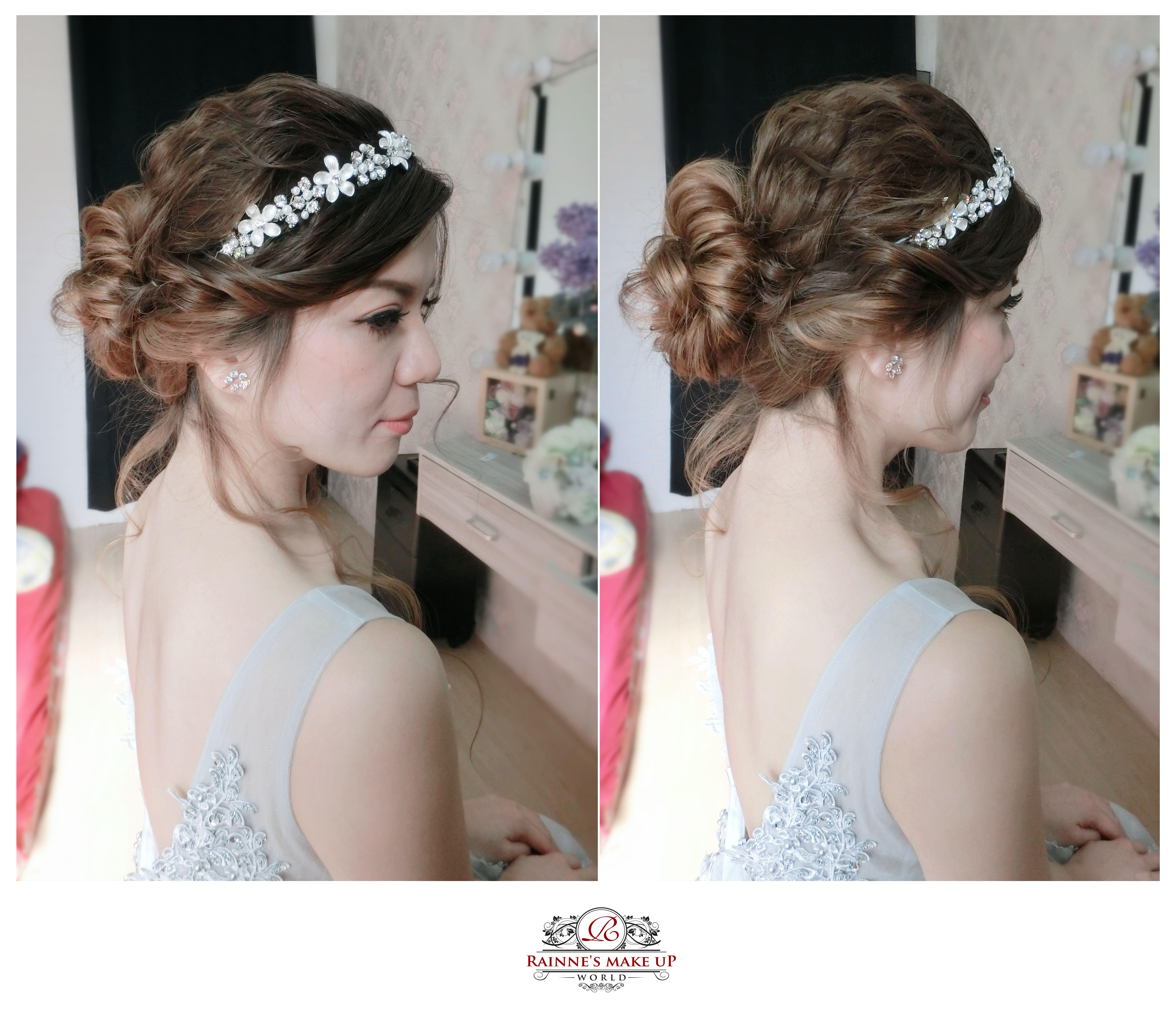 Wedding Hairstyle Near Me: Rainne Makeup World,rainneyap,bridal Makeup, Wedding