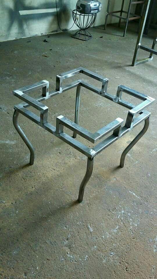 Mesa De Herreria Muebles De Metal Muebles Hierro Y Madera Mesas Madera Y Hierro