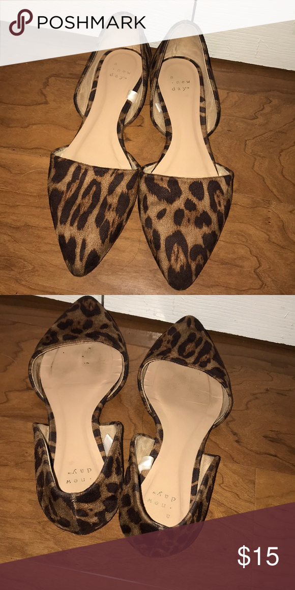 A NEW DAY Leopard Flats Pointed toe