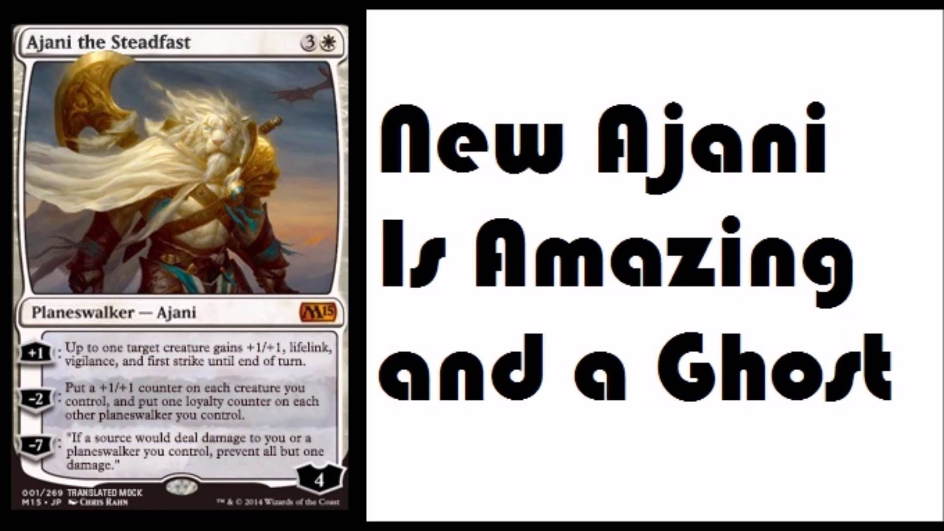 Ajani The Steadfast M15 Spoiler Ghost Planeswalker Magic Channel