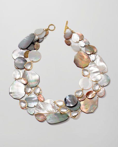 Ippolita Ondine Triple-Strand Pearl/Quartz Necklace