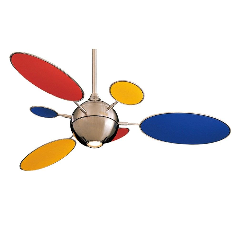Cirque Ceiling Fan By Minka Aire Fans W Multi Color Blades