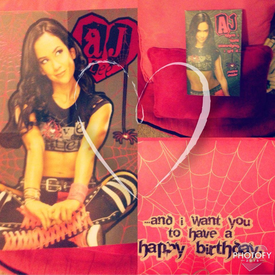 Look What I Got A Aj Lee Birthday Card April Jeanette Aj
