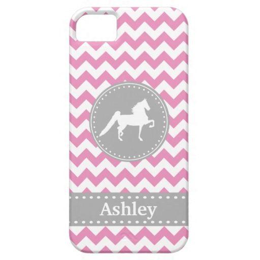 Customizable Saddlebred Pink Chevron iPhone 5 Case | Zazzle.com