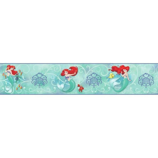 York Wallpaper DY0345BD Disney The Little Mermaid Border