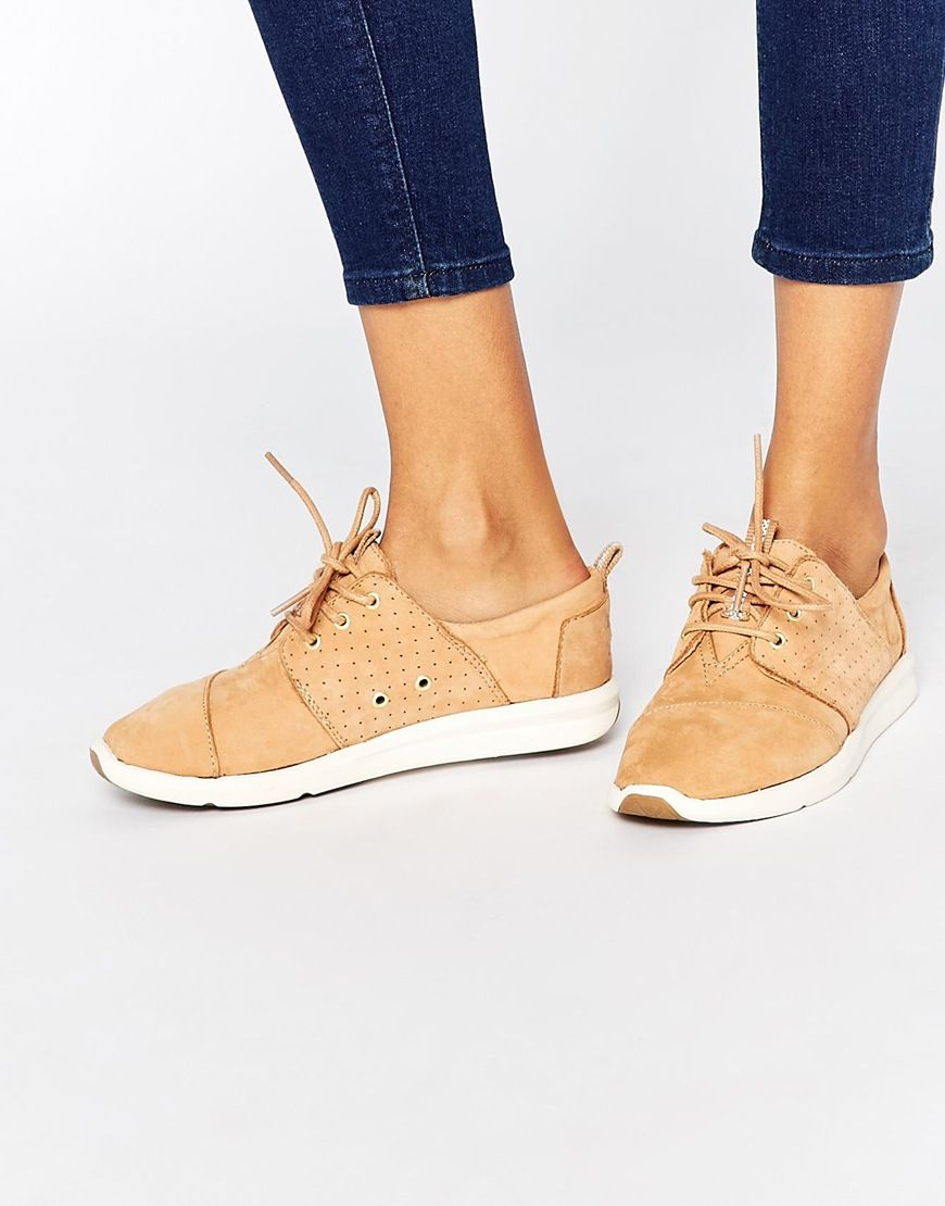 Image 1 of TOMS Del Ray Sandstorm Leather Trainers