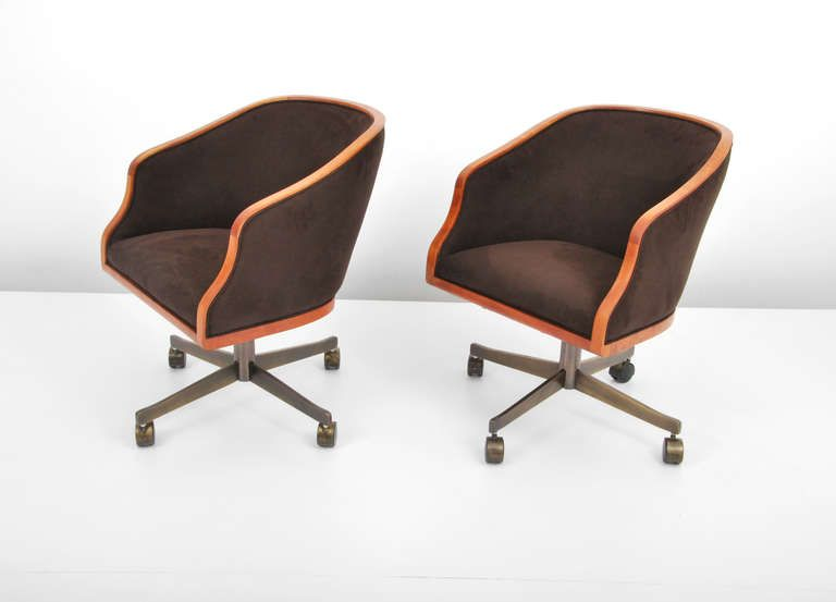 Ward Bennett Swivel Chair, Circa 1965 | From a unique collection of antique and modern office chairs and desk chairs at https://www.1stdibs.com/furniture/seating/office-chairs-desk-chairs/