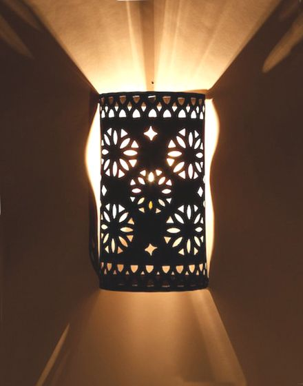 Demi wall light iron wall moroccan and iron cylindrical shaped moroccan iron wall light aloadofball Images