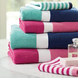 Towels Bath Towels Monogram Bath Towels PBteen Awesome Home - Monogrammed bath towels for small bathroom ideas