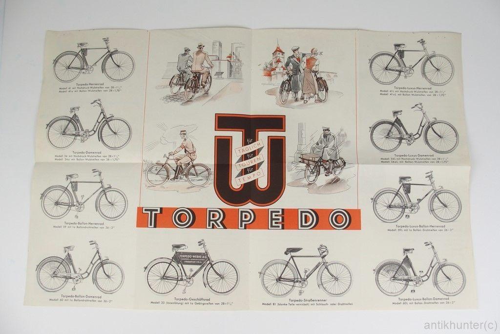 Torpedo Werke Fahrrad Prospekt 30iger Jahre 300 Ebay Fahrrad