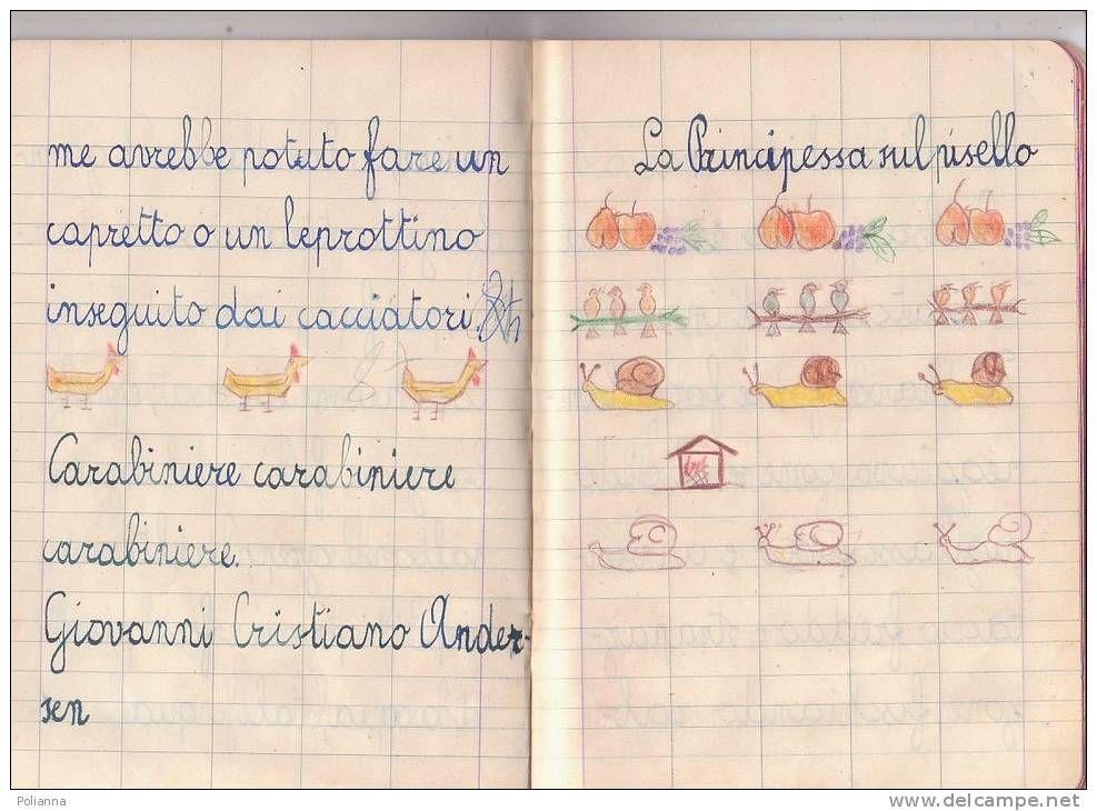 abbastanza Q006 QUADERNO SCUOLA ELEMENTARE 1955 - CALLIGRAFIA SCRITTURA  WW38
