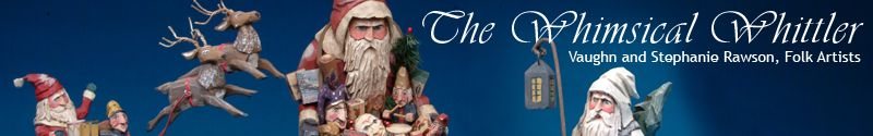 Specializing in Santas, Halloween, holiday figures and other Americana inspired folk art.