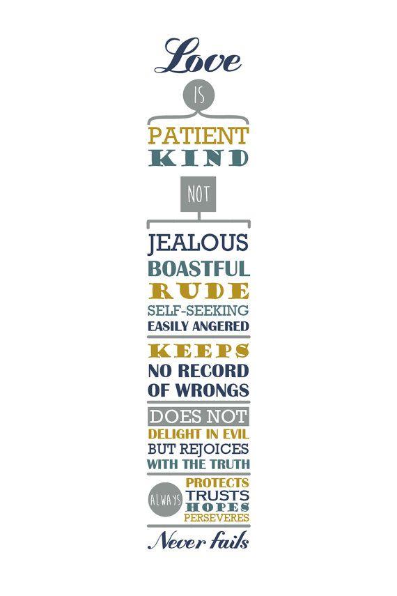 El amor es paciente amor es bueno. 1 Corintios por AnnaFrostWordArt ...