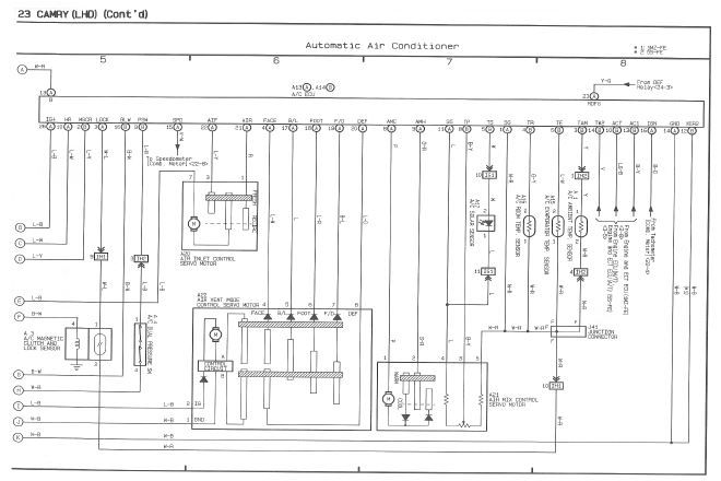 1996 Toyota Camry MCV20 SXV20 Series Electrical Wiring Diagram
