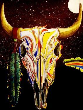 "Saatchi Online Artist Kyle Brock; Painting, ""Buffalo Dreams"" #art"