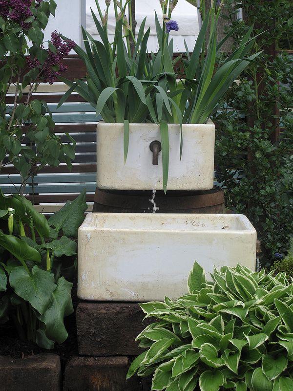 Belfast sink water feature   Out door sink ideas   Pinterest ...