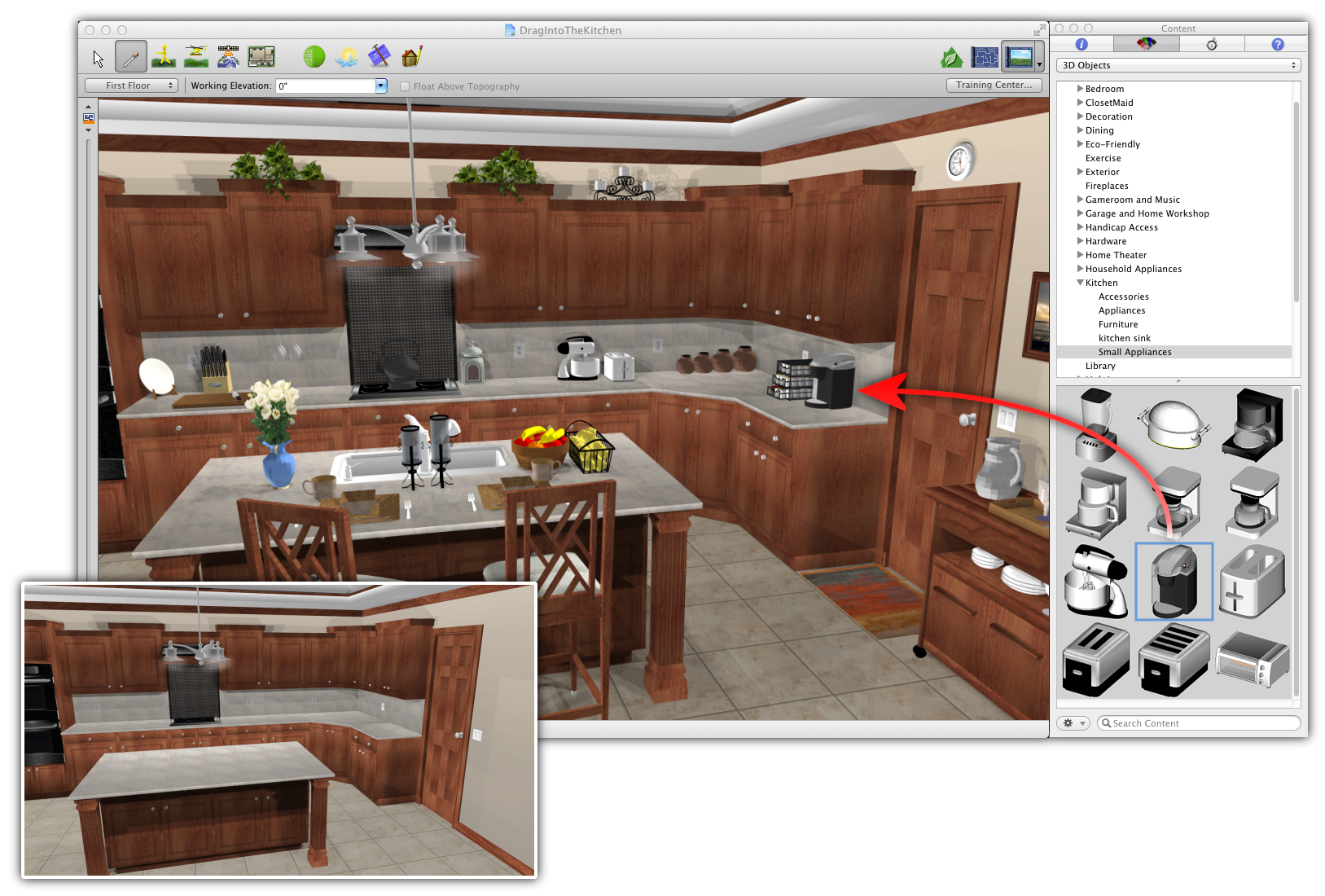 Drag And Drop 3D Objects  3D Printers Models & Software Enchanting Free Software Kitchen Design Decorating Inspiration