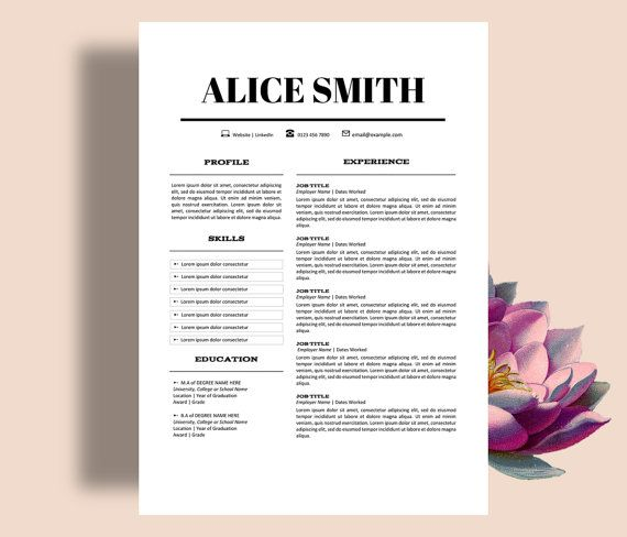 RESUME TEMPLATE 3pk Includes CV Template \ Cover Letter - templates of resumes