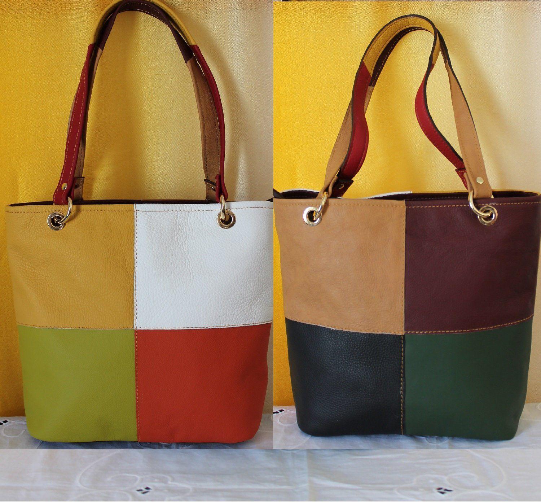 bello economico migliore a buon mercato super qualità Italian leather bag woman, Colorful genuine leather squares bag ...