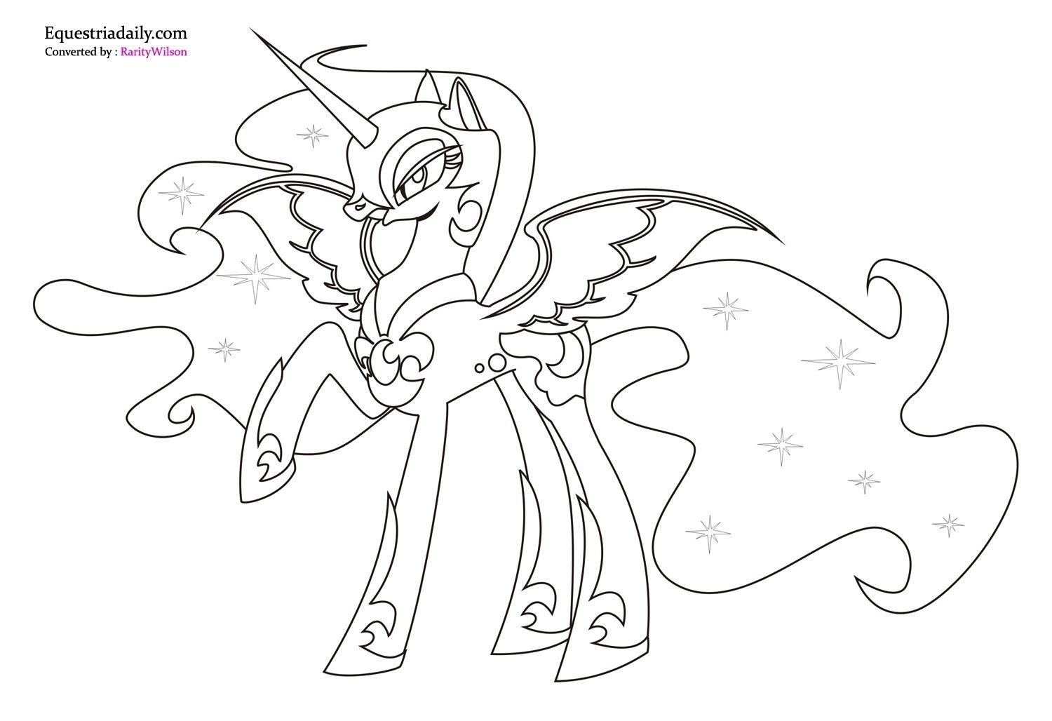 My Little Pony Coloring Pages Nightmare Moon With Images