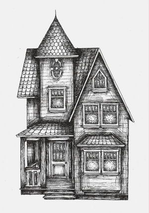 paintings+of+victorian+houses | how to draw : victorian houses ...