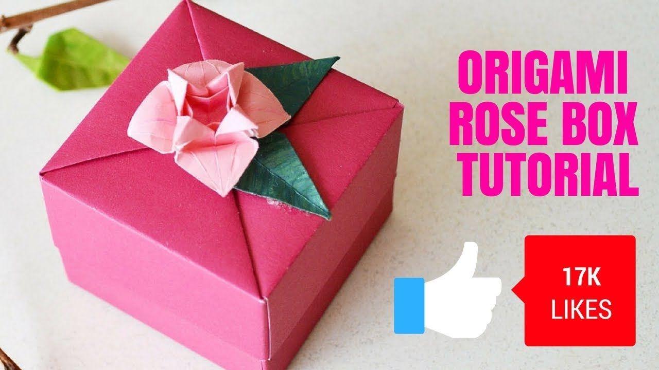 Origami Paper Rose Box How To Make Origami Rose Box Diy Origami
