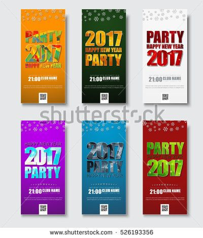 Template flyer for Christmas Party 2017 Banner design with colored - calendar flyer template