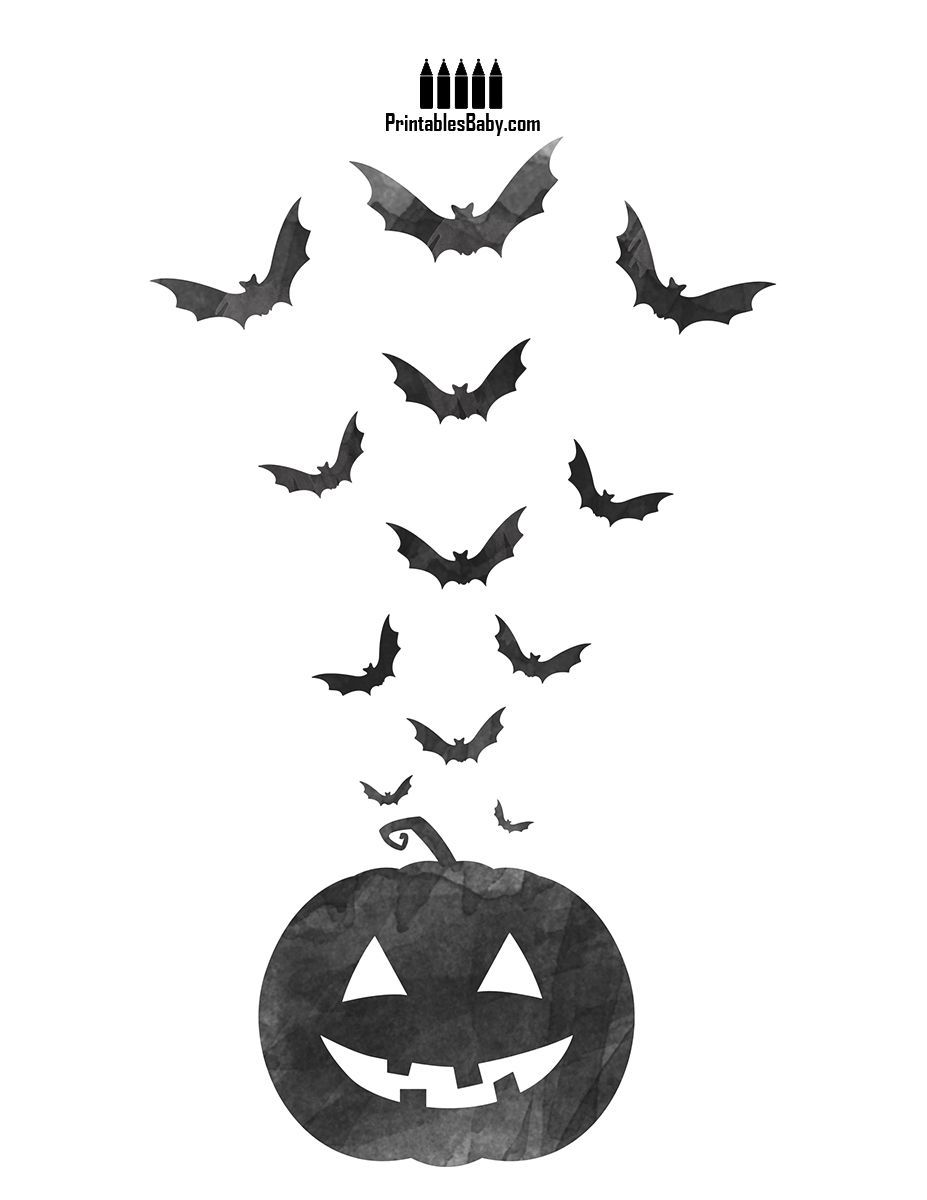 Bat and pumpkin free printable holiday posters pinterest