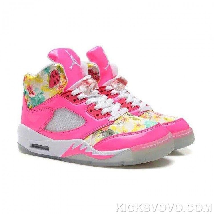 huge discount 486d6 2226f Women s Air Jordan 5 Cherry Blossoms High Pink Red White at kicksvovo.com