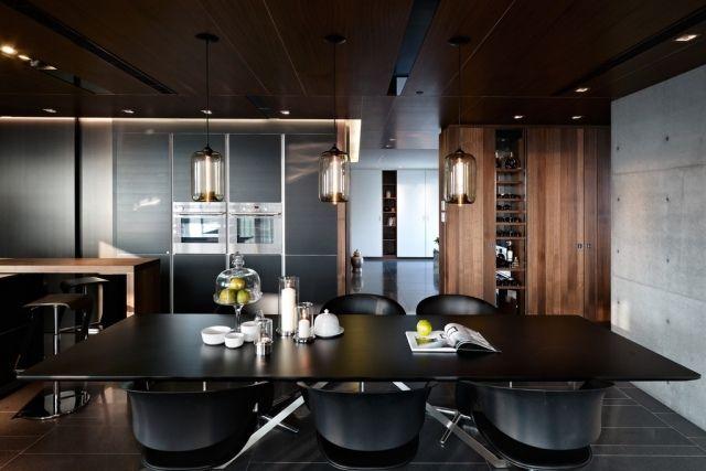 Meubles salle à manger : 65 idées avec l\'éclairage | Salle à manger ...